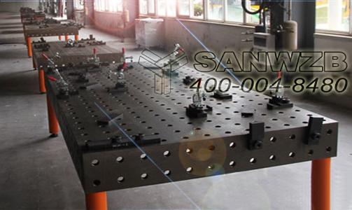 全承载客车车架柔性组对焊接工装