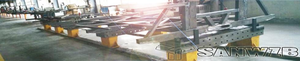 东莞三威全承载客车车架柔性组对焊接工装