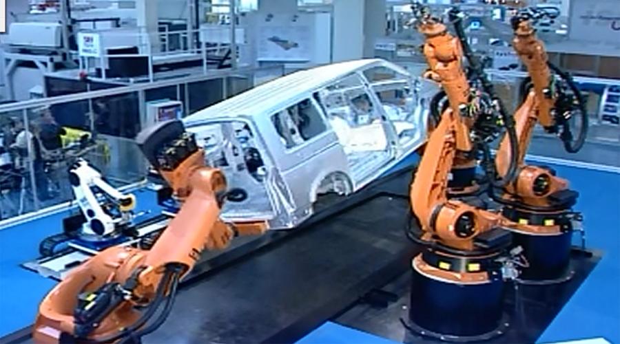 工业机器人在汽车柔性焊接生产线中的应用