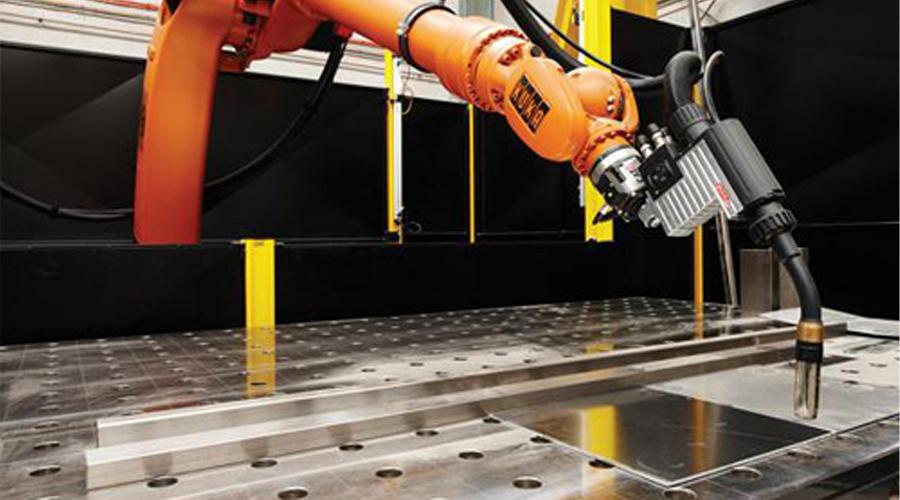 东莞三威机器人焊接平台应用