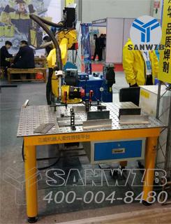 三威品牌机器人焊接平台广泛应用